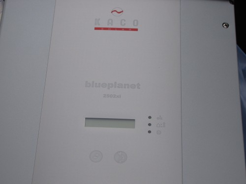 Closeup of one of the Kaco inverters