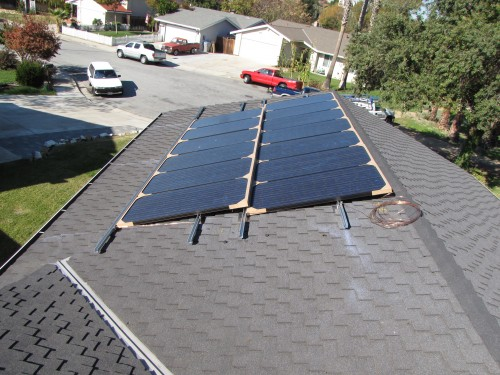 Panels Placed On Roof